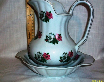 Listing 133 is a Medium decorative pitcher and bowl set