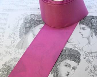 Vintage Taffeta Ribbon in Dark Pink for embellishing clothing and hats!
