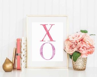 XO Valentine Day Instant Download, 8x10 digital download, Valentine Home Decor