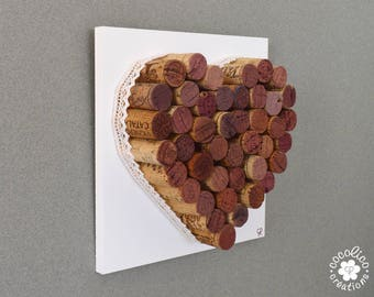 Heart cork backed with wood model 2