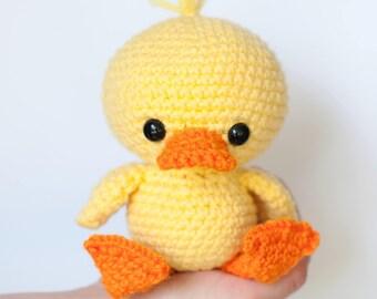 Amigurumi Duck Tutorial : Yellow rubber duck crochet pattern amigurumi duck pattern diy