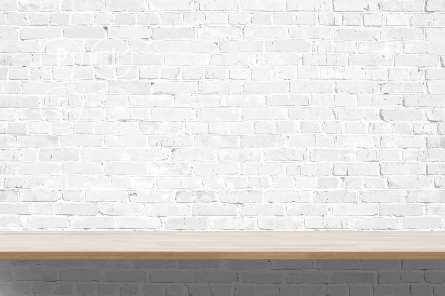 Blank wall mockup brick wall white brick wall mockup wall for What to do with a blank wall