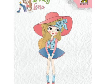 Pretty Lena 8 x 4, 5 cm - CSLL001 clear stamp