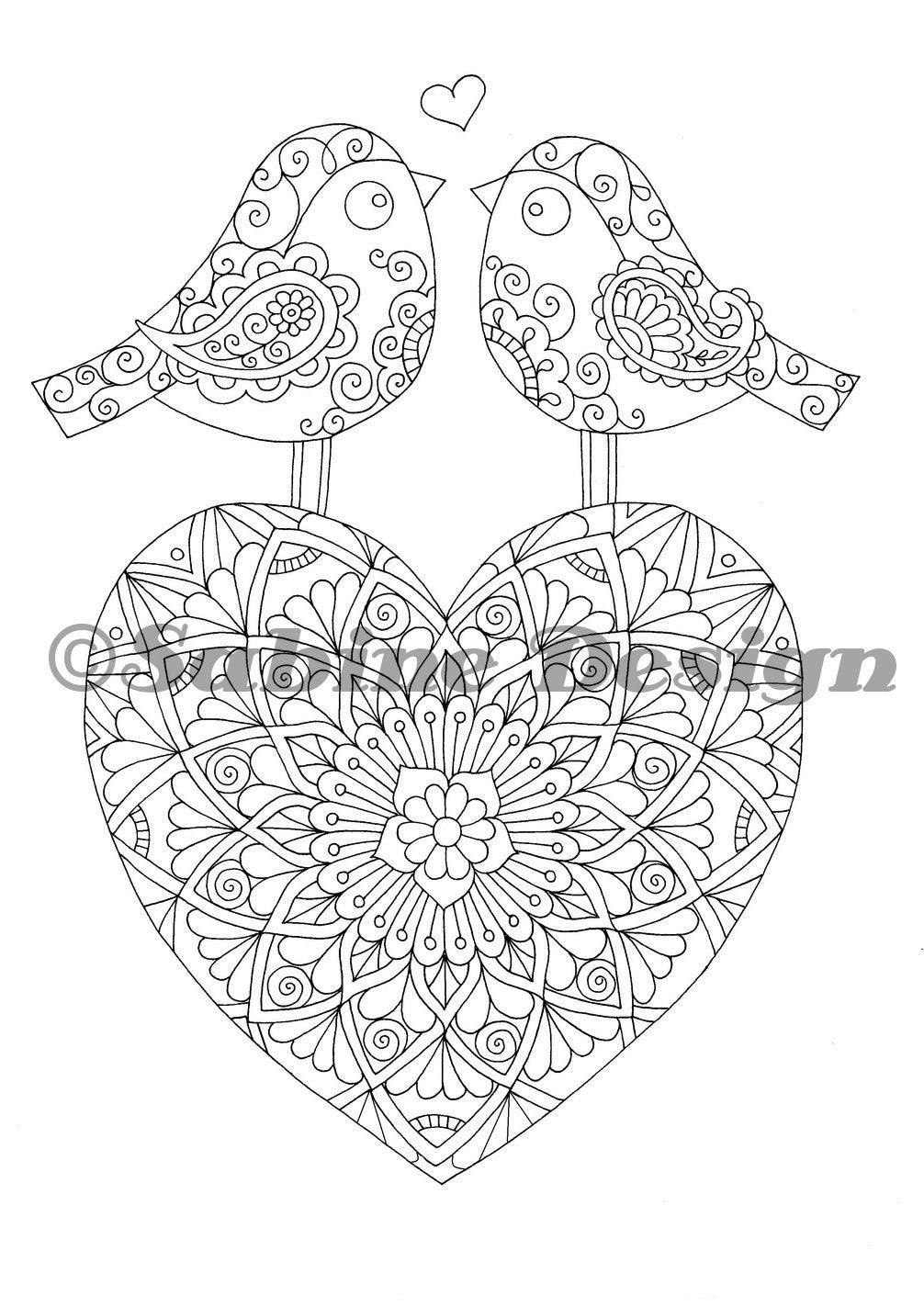 Único Mandala Coeur Ideas - Enmarcado Para Colorear ...