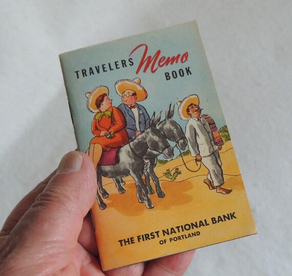 """Vintage 1947-48 Travelers Memo Book.. 3"""" x 4"""".. Unused & Cute"""