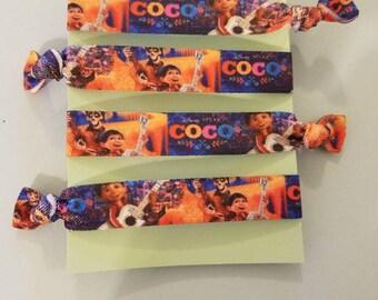 Set of 4 Coco elastic hair ties