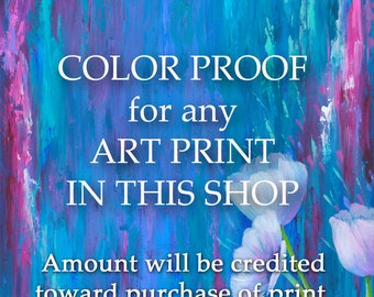 Color proof for any art print in this shop