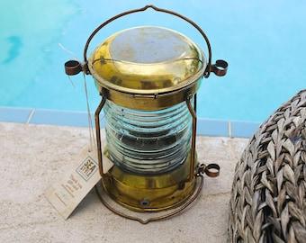Brass Lantern, Beach Decor, Nautical, Vintage, Restored by SEASTYLE