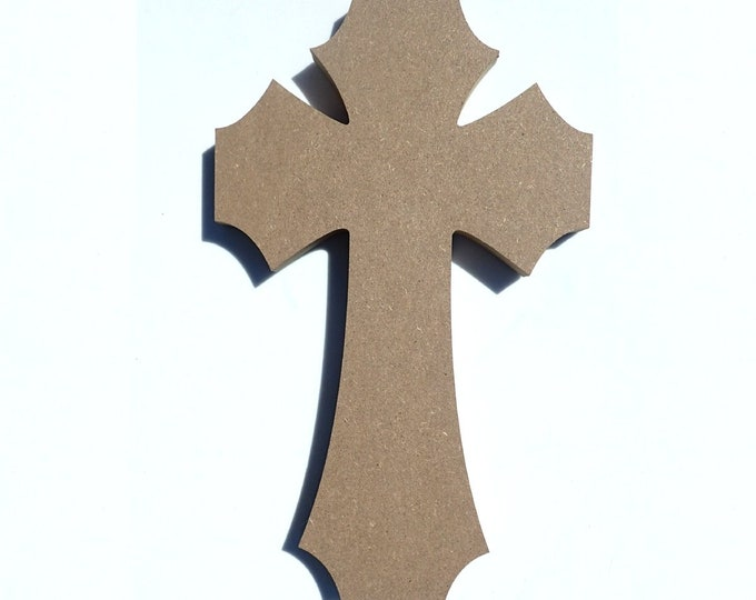 Large Cross Plaque -  Use as a Base for Mosaics Decoupage or Decorative Painting - 12 inch Unfinished MDF