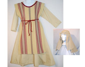 Size 5-6 Kid's Christmas Nativity Play Costume Shepherd or Joseph