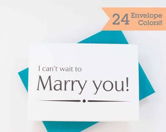 I Can't Wait to Marry You, Wedding Card to Husband, Wedding Day Card (WC003-PR)