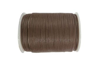 1 mm, 2mm or 3mm - Brown leather - 1 m or 2 m leather cord