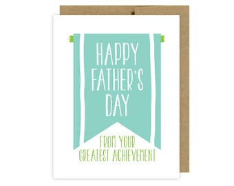 Father's Day Card:  Funny Award Achievement- Etsy