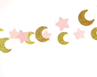 moon garland etsy rh etsy com Cloud Star -Banner Clip Art Gold Moon with Face Clip Art
