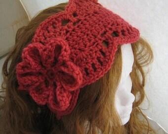 Lacy Ear Warmer/ Headband (pdf crochet pattern)
