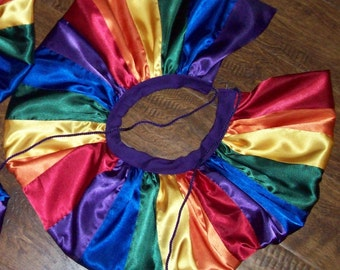 Rainbow neck collar costume collar