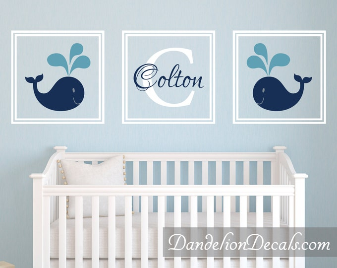 Featured listing image: Nursery Wall Decal - Boys Room Decal - Personalized Gifts - Personalized Wall Decal - Boys Room Decor