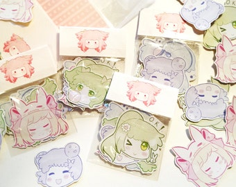 O.K SMILE! Original Pastel Sticker Set