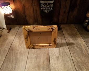 Custom sized Lichtenberg burned photo frame.