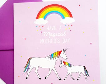 Unicorn Mother's Day Card - Have a Magical Mother's Day