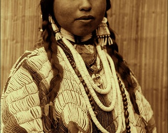 Poster, Many Sizes Available; Wishham (Tlakluit) Bride Native American Indian 1910