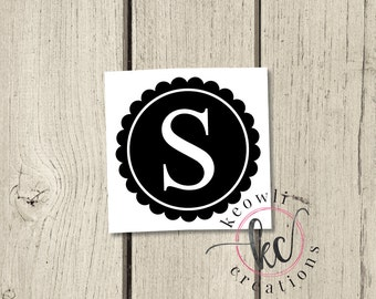 Scallop Letter Vinyl Decal