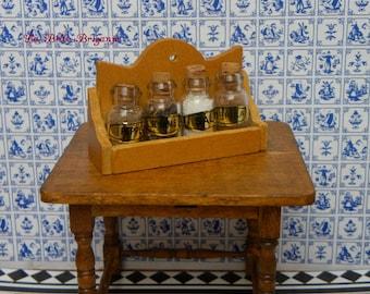 Dollhouse miniature herb rack