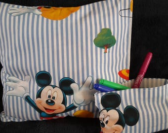 with its matching pouch Mickey Cushion cover / disney/kid/mickey/storage/decor children bedroom decoration
