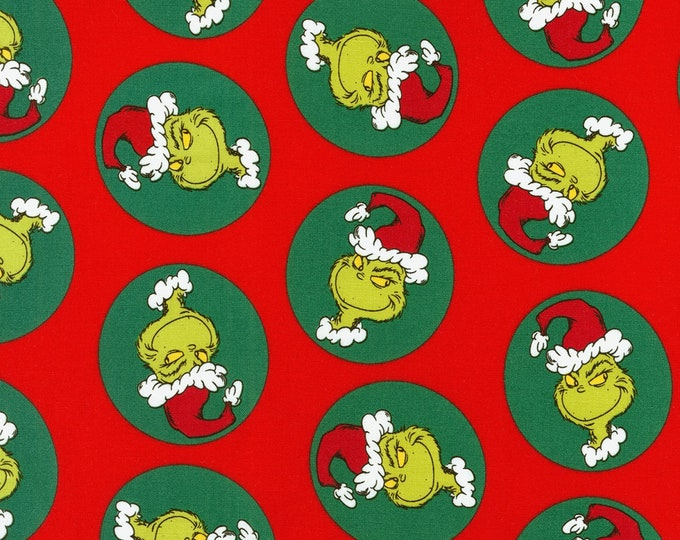 DR. SEUSS GRINCH. How The Grinch Stole Christmas Cotton Holiday Fabric by Robert Kaufman