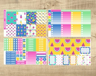 Summer Fruit 4 Page Weekly Kit for Erin Condren Vertical LifePlanner