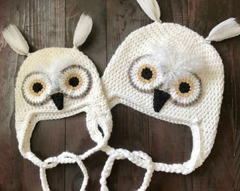 Snowy white owl hat