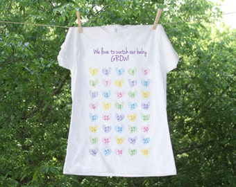 Week By Week Heart Countdown Maternity Shirt - TR