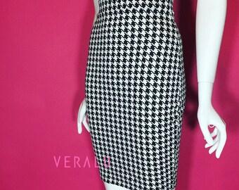 VERALU Houndtooth pencil skirt