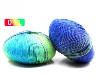 2 - Rainbow Wool Anti-pilling Yarn Skeins - #11