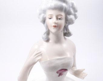 Vintage Pincusion Doll, Large Arms Away Half Doll, Goebel, Art Deco Germany