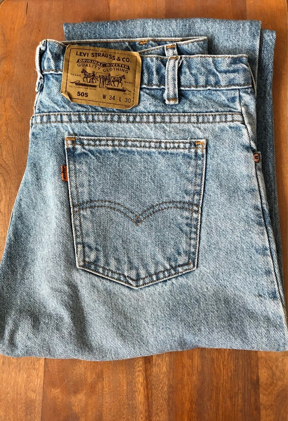 Vintage Levis Orange Tab Jeans - 70's - High Waisted - Boyfriend Jeans - 505