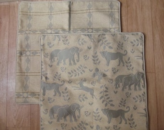 light brown animal cushion cover