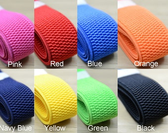 1 1/4 inch 30mm Colored Woven Elastic, Waistband Elastic,Stretch Elastic by the yard
