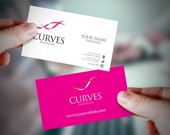 Printable, Premade Business Card, Business Card Design, Business Card Template, Custom Business Card, Personalized business card, feminine .
