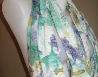 Spring Field Jersey Infinity Scarf (purple and greens)