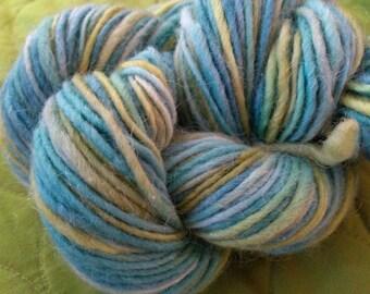 OCEANA Handpainted Wool Mohair Yarn 144 yards 2.6oz Worsted Weight Knitting Aspenmoonarts Hand Painted