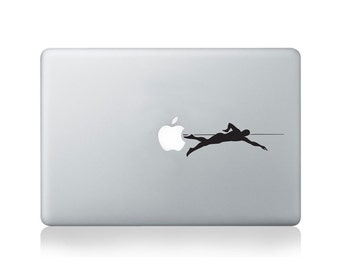 Swimmer Vinyl Decal for Macbook (13/15) or Laptop