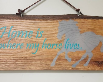 Wooden Horse Sign, horse quote sign, wood horse sign, horse sign, horse decor, horse decoration, horse wall art, gift for horse lover