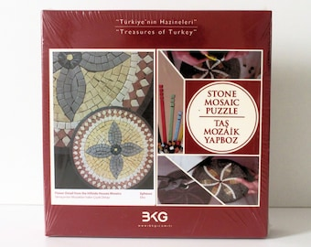 DIY Kit, DIY Kids Craft, Mosaic Art, Stone Mosaic Puzzle