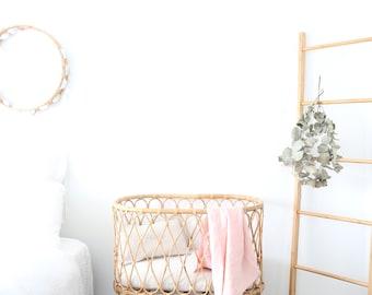 The Simple Linen Baby Wrap- DESERT BLUSH