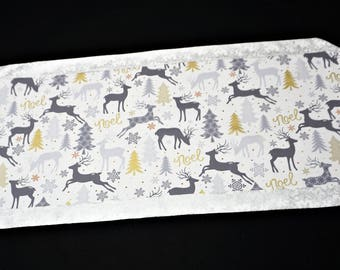 Christmas table runner reindeer table runner Hostess gift Holiday table runner Winter table runner Christmas Gift winter home decor