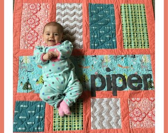 Modern Personalized Panel Quilt