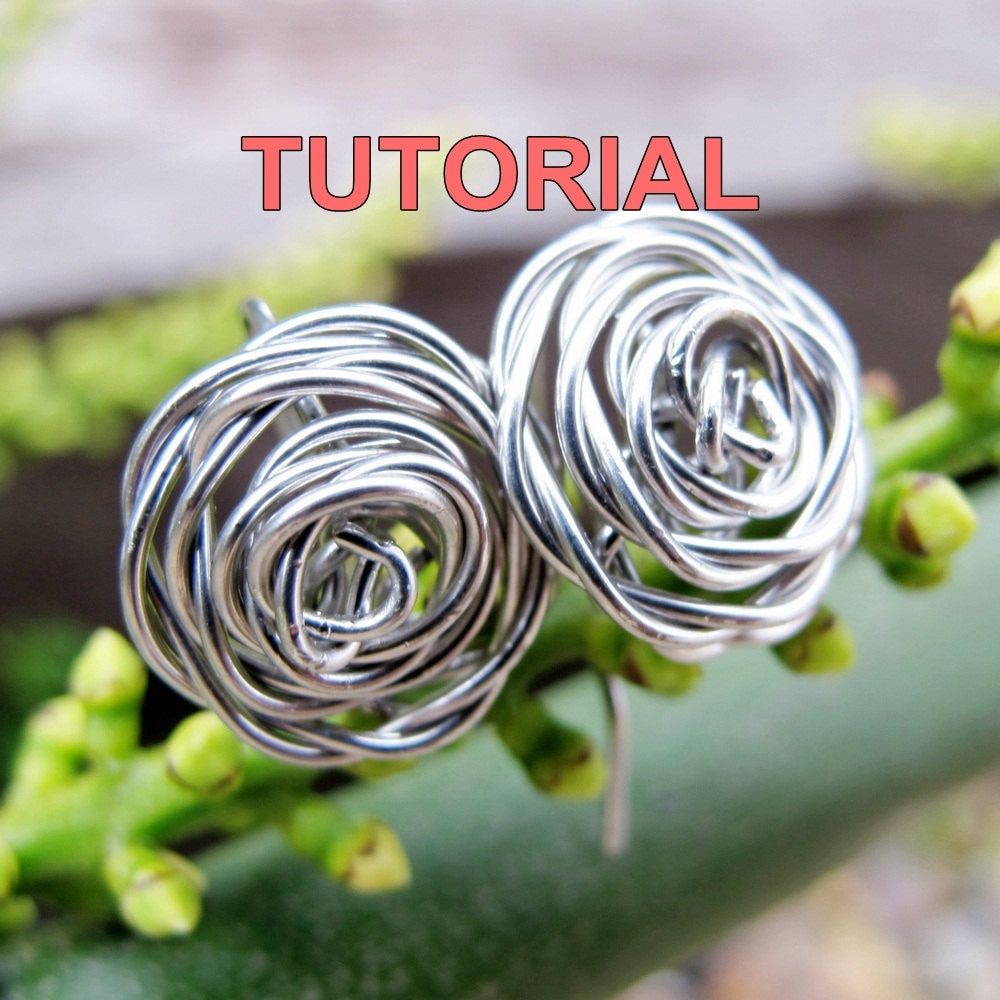 WIRE JEWELRY TUTORIAL Wire Wrapped Rose Earrings