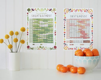 seasonal calendar (Set of 2) - eco-friendly