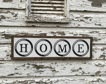 READY TO SHIP - home sign - wood sign